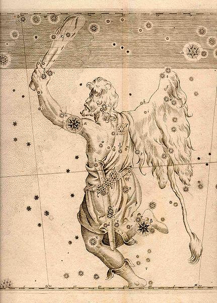 星座書ウラノメトリアにおけるオリオン座