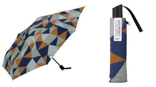 バックプロテクトアンブレラ 折りたたみ傘 クリスタル