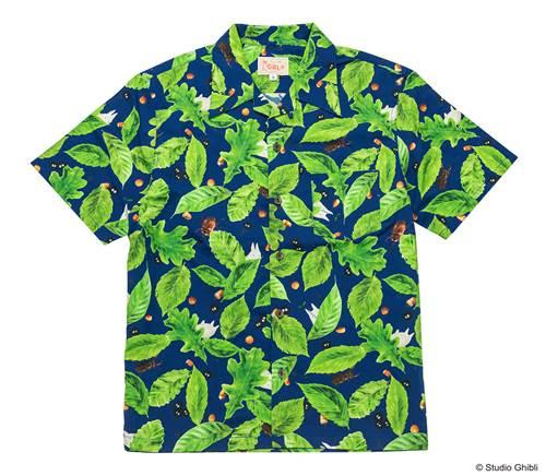 a-となりのトトロ ハワイアンシャツ どんぐり葉っぱ