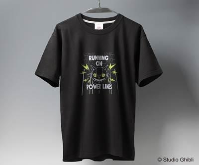 a-となりのトトロ Tシャツ ネコバスビリビリ