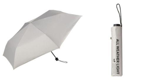 a-晴雨兼用 折りたたみ傘 60cm ユーデイ グレー