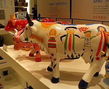 牛に子供たちだね。