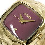 ニクソン 腕時計 メンズモデル THE PLAYER オールゴールド NA140505 バーガンディ NIXON