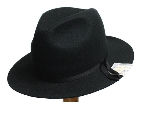 'SHOOP'FELT-BLACK-HAT