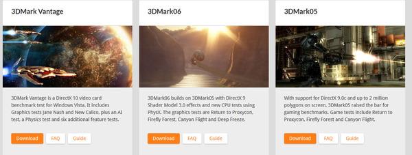 Futuremark Legacy Benchmarks