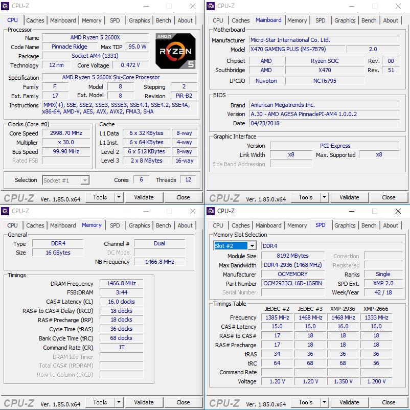 OCMEMORYのDDR4-2933をMSI X470 Gaming Plusで起動してみた : AKIBA