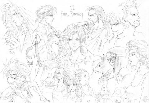 「FF5」と「FF6」当時の野村哲也氏の落書き