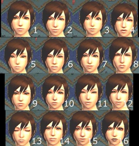 モンハン4 顔画像女