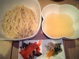 菜 真鯛の淡麗塩つけめん 三種の冬の香り添え