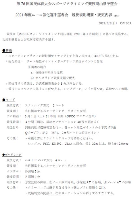 県予選会レギュレーション2021