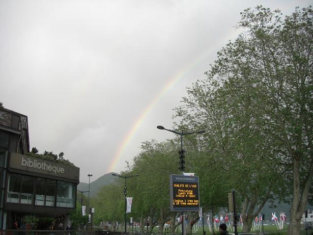 アヌシーの虹