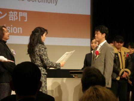 メディア芸術祭贈呈式のJung監督