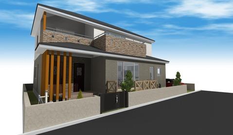 2世帯住宅外観