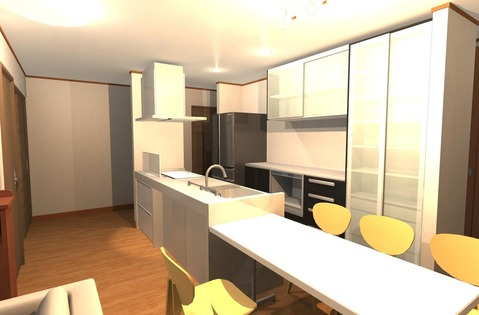 2世帯住宅キッチン
