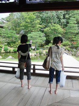 仁和寺庭園にて