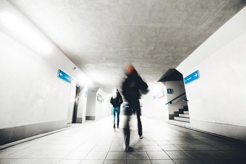 two-people-go-through-the-underpass-picjumbo-com