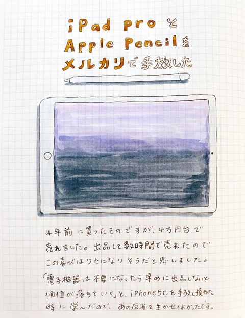 iPad pro 4万円台で売れた。メルカリ出品のハードルを下げるコツを見つけた。