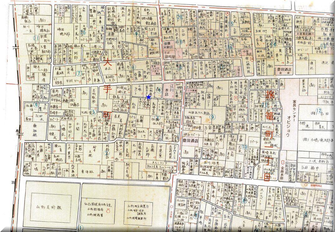 大手町(旧八幡石)住宅図�