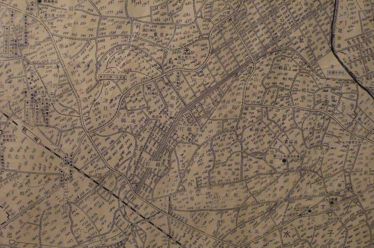祝・市制施行 富士見市全図(昭和47年3月)