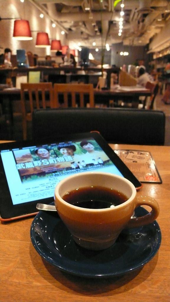 ユナイテッド・シネマ浦和のフロアの喫茶にて
