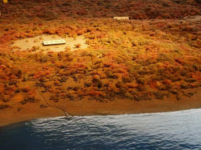 水子貝塚(縄文海進の時代の位置づけ):水子貝塚展示ジオラマ