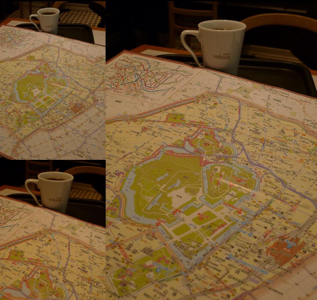 千代田区の地図を鳥瞰