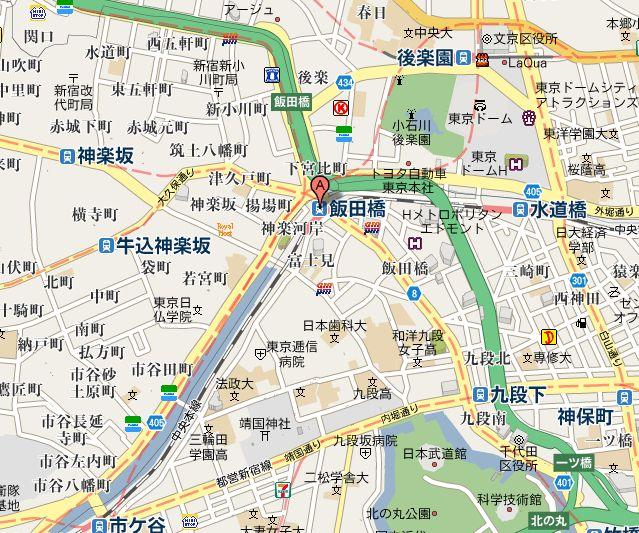 地図(飯田橋周辺)