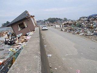 東日本大震災・宮城県多賀城市七ヶ浜町にて