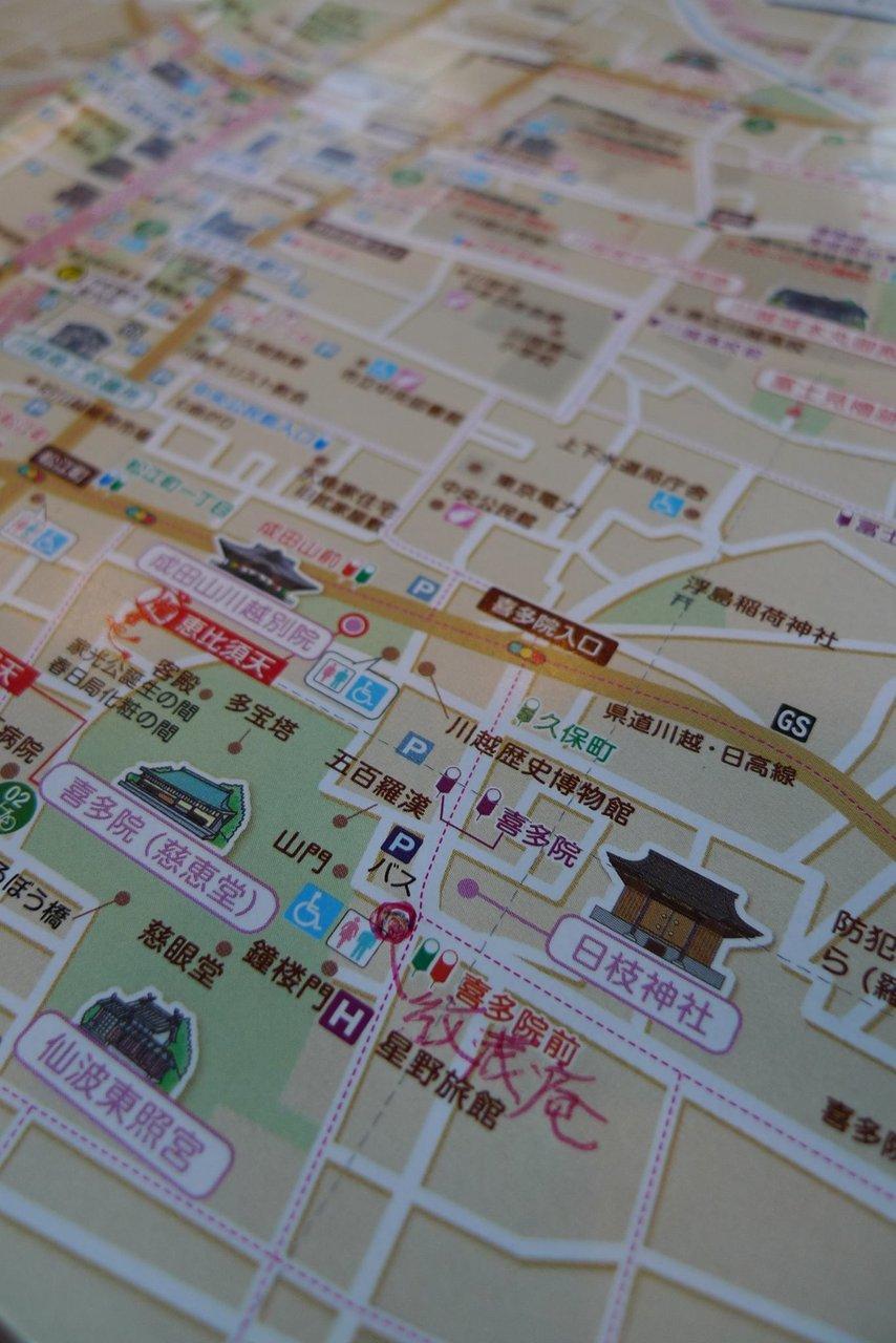 紋蔵庵の地図