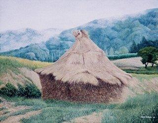 波暮旅二さんの作品「藁ぼっち」全画面