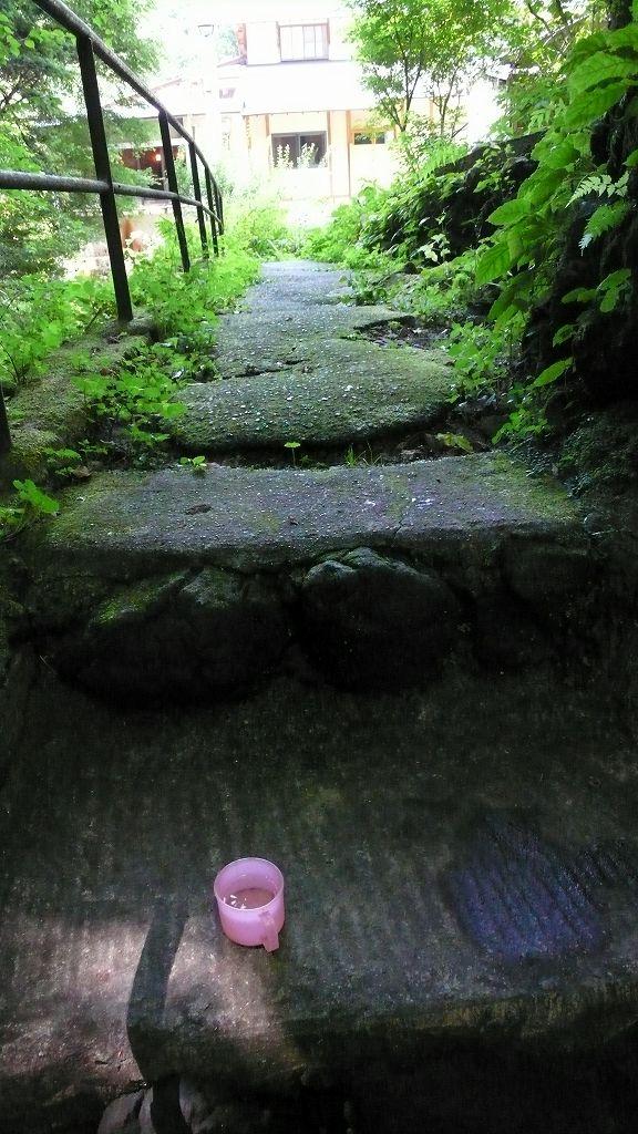 初谷温泉にて