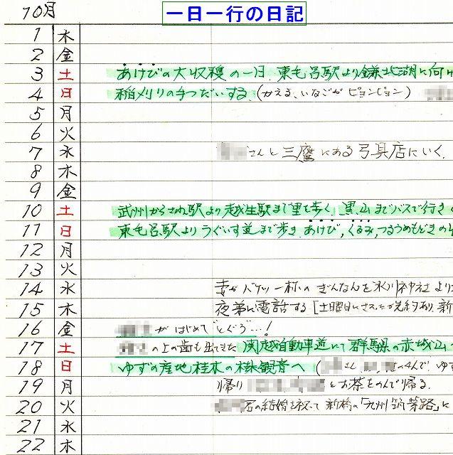 『一日一行の日記』:温泉人(おふろうど)作