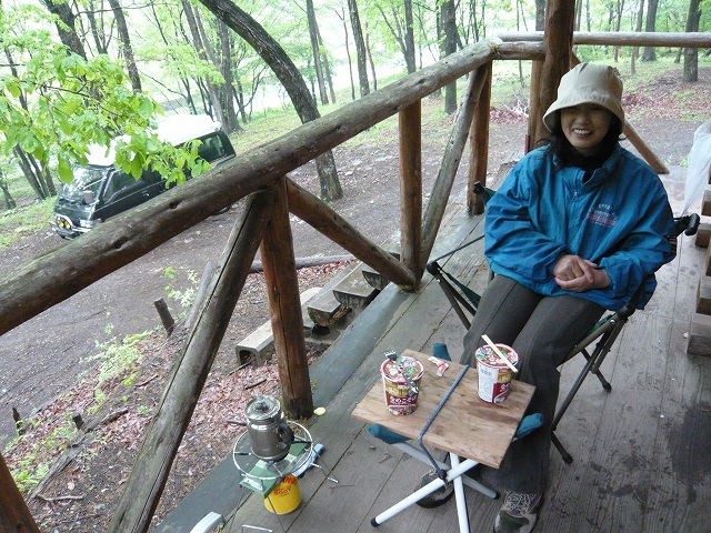 みどりの村キャンプ場にて