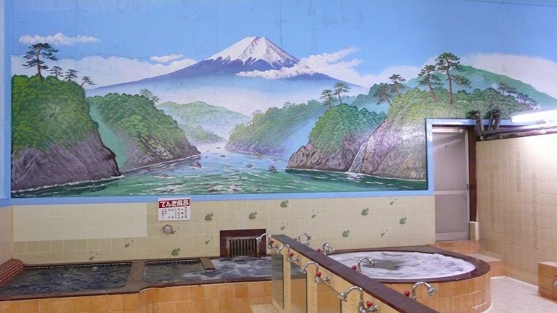 ペンキ絵(銭湯「つるせ浴場」)