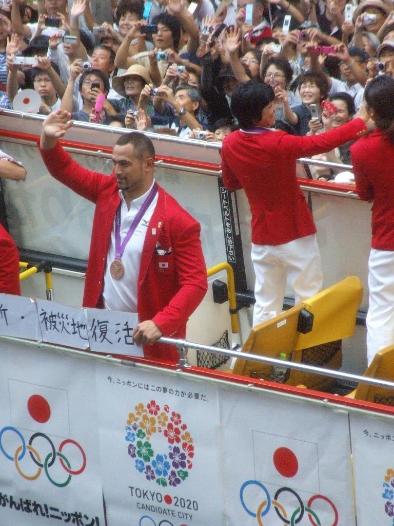 銀座でロンドン五輪メダリスト凱旋パレード:2012.8.20