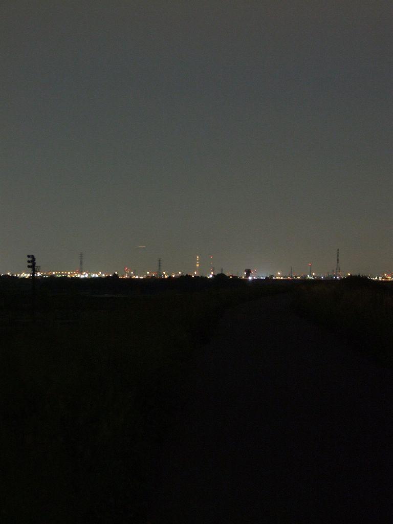荒川土手・埼玉志木市から臨む東京スカイツリー