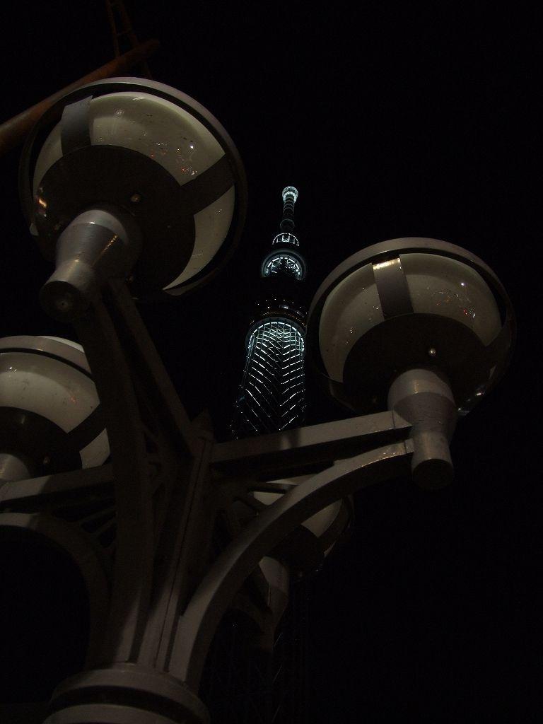 ライトアップされたスカイツリー(業平橋&浅草)