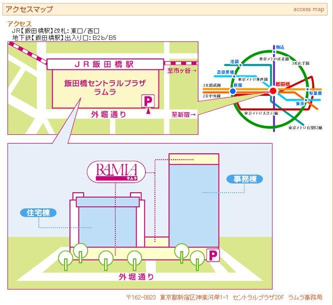 RAMLA アクセスマップ