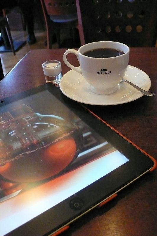 珈琲&インターネットラジオ(iPadにて)