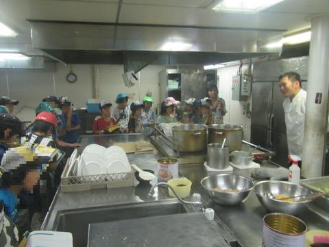 ② 乗組員厨房にて