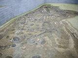 炉跡の復元展示