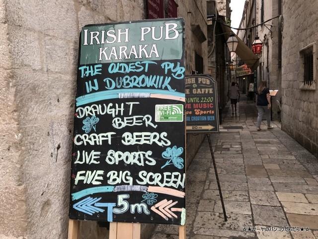 Irish pub Karaka カラカ ビール ドゥブロブニク (1)