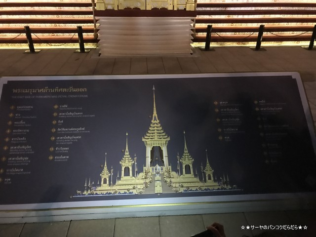 火葬場見学 プミポン国王 王宮前広場 (21)