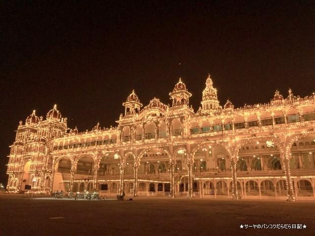 マイソールパレス 夜 ライトアップ 絶景 おすすめ インド (3)