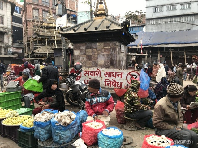 インドラチョーク アサンチョーク 朝市 ネパール カトマンズ (3)