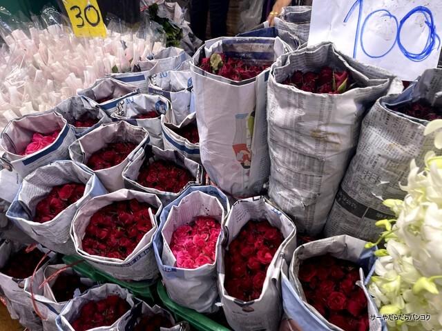 パークロン市場 ヨードピーマン バンコク 花市場 (2)