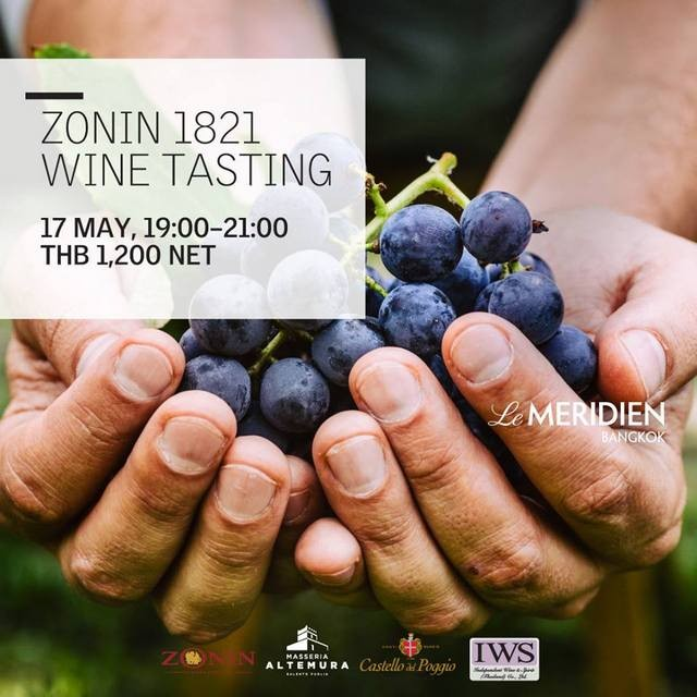 ZONIN 1821 WINE TASTING at メリディアン・バンコク
