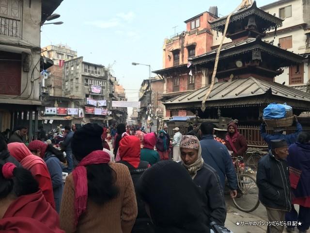 インドラチョーク アサンチョーク 朝市 ネパール カトマンズ 1