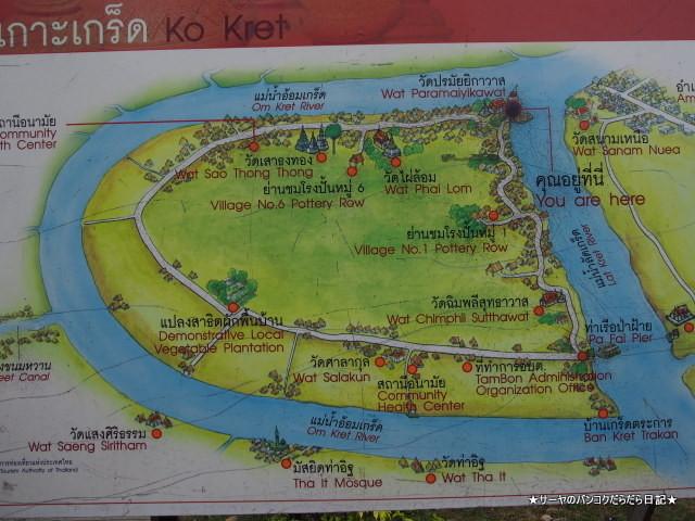 クレット島 ノンタブリー Koh kret バンコク