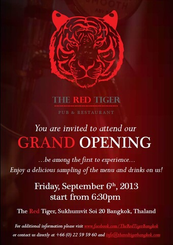 The Red Tiger bangkok beer Sukhumvit